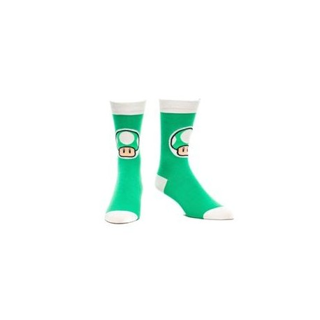 Nintendo Green Mushroom socks calzini
