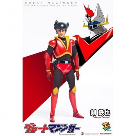 ZCWO 1/6 SCALE COLLECTIBLE ACTION FIGURE TETSUYA TSURUGI FROM GREAT MAZINGER
