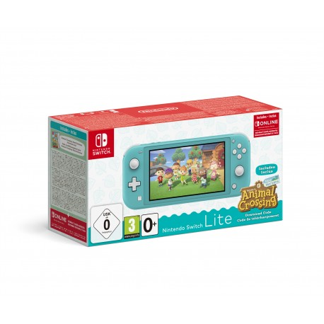 CONSOLE SWITCH LITE TURQUOISE + ANIMAL CROSSING NEW HORIZONS + NSO 3 MONTHS (LIMITED)