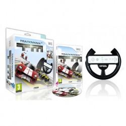Trackmania + volante (Wii)