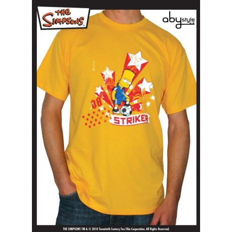"SIMPSONS - Tshirt Gold Uomo ""Bart Striker"""
