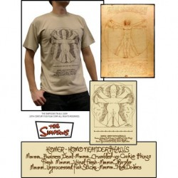 "SIMPSONS T-Shirt Homme Beige ""HOMER de VINCI"""