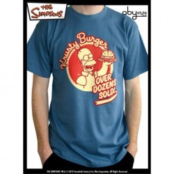 "SIMPSONS T-Shirt Homme Stone Blue ""Homer Burger"""