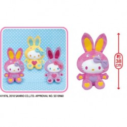 Hello Kitty Colorful Bunny 2L Basic Big Plush -PINK-