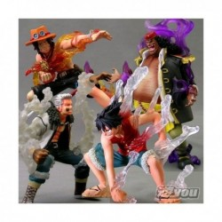 One Piece Super Effect Figure Vol. 1 - set da 4