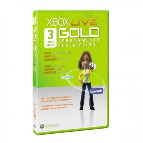XBOX LIVE 3 MESI GOLD CARD