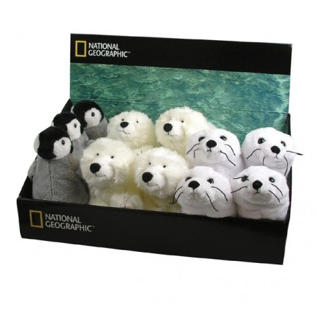 National Geographic Plush Figure Display Orso Foca Pinguino