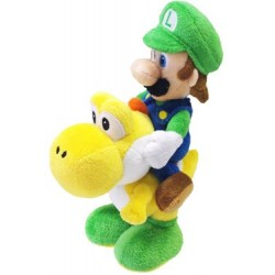 Super Mario Bros. Plush Figure Luigi on Yoshi