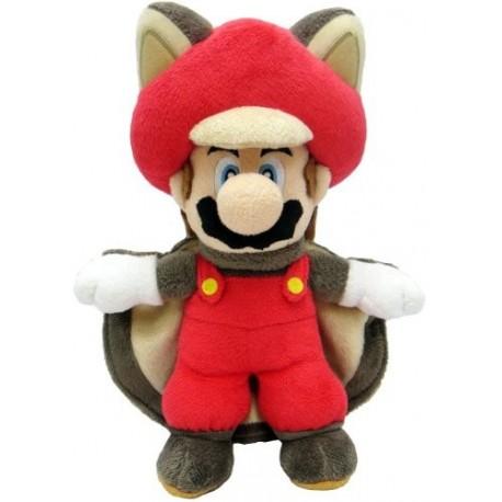 """Sanei Super Mario 9"""" Squirrel Musasabi Mario Plush 22cm"""