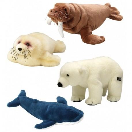 National Geographic Orso polare foca balena tricheco peluches plush pupazzi