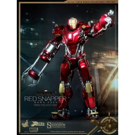 Iron Man 3 Power Pose Series Action Figure 1/6 Iron Man Mark XXXV Red Snapper 34 cm
