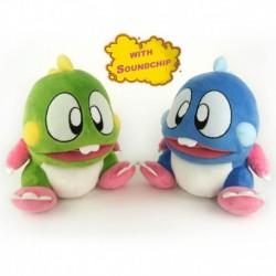Bubble Bobble Plush Assortment con Suoni (venduti in coppia 1 verde e 1 blue)